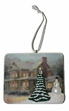 Hallmark Seasons 2012 Christmas Holiday Ornament Thomas Kinkade Painting Snowman