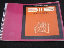 NEW Porsche 911-S Original Owners Manual 1970 model  2.2 liter  #4619.23 NOT USA