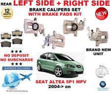 FOR SEAT ALTEA 5P1 MPV 2004-> REAR AXLE LEFT + RIGHT BRAKE CALIPERS + PADS SET