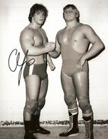 Chris Benoit Autograph & Owen Hart Pre Print Wrestling Photo 8x6 Inch Hologram