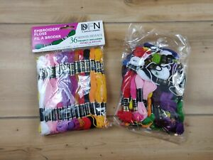 2 Bags Janlynn Cotton Embroidery Floss Pack 8.7 Yards 36/Pkg-Assorted Color