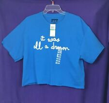 """***NWT the Notorious BIG """"Biggie"""" It Was All A Dream Blue Crop Top - Large***"""