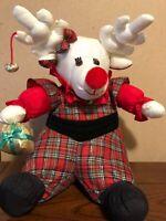 Vintage 1993 International Silver Co. Christmas Nylon Girl Reindeer Plush