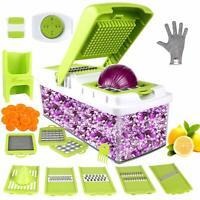 Multifunction Vegetable Chopper Food Fruit Dicer Cutter 10 in 1 Veggie Slicer