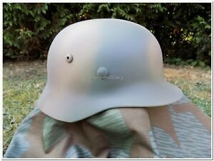 WW2 German Army WH,ELITE 3 Colours Normandy D-DAY 1944 Camo M35 Helmet -  Repro