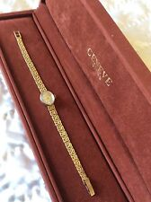 "GENEVE QUARTZ LADIES WRISTWATCH-14K GOLD. 7"" LONG"