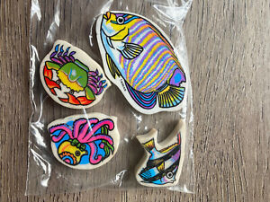 E6 Vintage 80s 90s Erasers Rubbers - Vintage Fish Erasers
