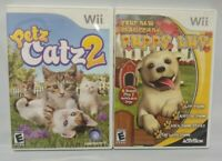 Petz Catz 2 + Puppy Luv Dogs Cats Fun -  Nintendo Wii Wii U Game Lot Complete