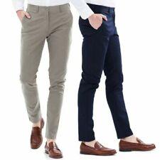 Pantaloni da uomo chino blu slim