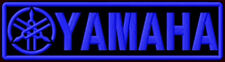 "YAMAHA BLUE FORKS EMBROIDERED PATCH ~5-1/2""x1-1/2"" MOTORCYCLE V MAX R1 TDM R6 FJ"