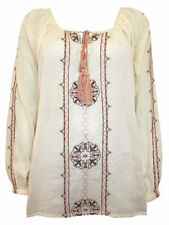 Cotton Embroidered Long Sleeve Tops & Shirts for Women