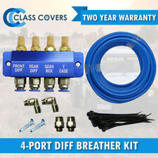 DIFF BREATHER KIT BLUE  4-WAY FOR TOYOTA LANDCRUISER 73 75 76 78 79 Series 4X4