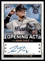 2020 Big League Auto #BLA-ID Isan Diaz - Miami Marlins