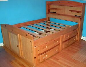 Sundance Wooden Full Captain's Bed With Headboard
