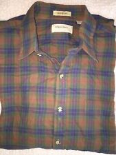 Vintage ARROW CHEVELLA XL Plaid Button Front Shirt X LARGE Perfect no flaws