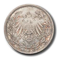 Germany Imperial Eagle 1/2 Mark 1918  AU KM17