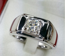 2.05CT Over Round Cut Solitaire CZ Fashion Wedding Band Ring 925 Sterling Silver