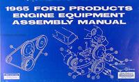 1965 Ford 289 Engine Assembly Manual 65 Galaxie Mustang Fairlane Falcon Ranchero