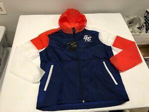 NWT $120.00 Nike Unisex Blue Ribbon Running Jacket Blue / Red / White Size LARGE
