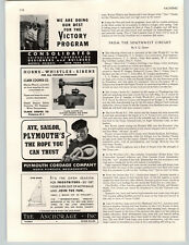 1942 PAPER AD Clark Cooper Horns Whistles Sirens Electro Phonic Air Horn