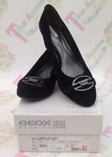 Geox Respira D Venere Women's Goat Suede Wedge Shoes Diamanté UK 6.5 EUR 39.5