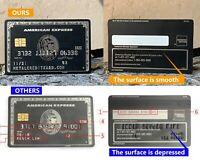 Custom Metal American Express Centurion Black Card Not Real AMEX Black Card
