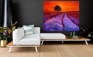 80cmx 80cm  SUPER SIZE CANVAS landscape art painting print tree farm sunrise