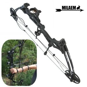 "Compound Bow 30-70lbs Adjust 30"" Sight Target Archery Right Hand Black Hunting"
