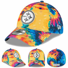 2020 Pittsburgh Steelers Men's New Era NFL Crucial Catch Hat Cap Flex Tie-Dye