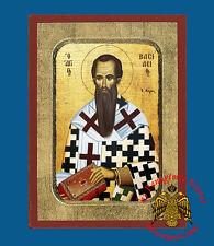 Orthodox Icon Basil the Great Handmade Size 18x24 cm Orthodoxe Ikone Basilius