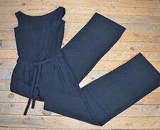 Women's Elegant Sleeveless Black Wide Leg Jumpsuit Catsuit Playsuit UK Size 8