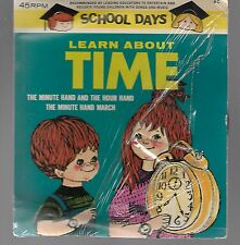 """Vintage School Days 45 RPM """"Learn About Time"""""""