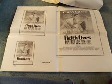 FLETCH LIVES(1989)CHEVY CHASE ORIGINAL AD MAT SECTION HUGE!