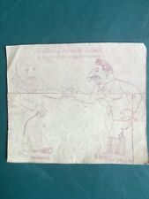 Staline, Churchill, Caricature érotique, Guerre 1939-45 WW2 Drawing Propagande
