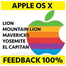 Mac OS X USB Lion Mountain Lion Mavericks Yosemite ElCapitan sierra HIGHmacbook