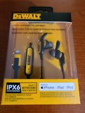 DeWalt IPX6 Jobsite Earphones for Lightning iPhone iPad iPod DXMA1903017