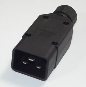 IEC C20 16 AMP REWIREABLE CONNECTOR PLUG - 16A