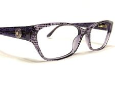 Versace MOD3172 5000 Women's Lizard Violet Rx Cat's Eye Eyeglasses Frames 54/16