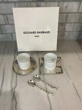 Limoges France Edouard Rambaud Paris Demitasse Espresso Coffee Cup and Saucer