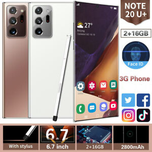 Note20U + Smartphone 2GB+16GB 6.7-inch true perforated screen Android Phone 3G