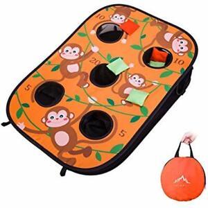 Himal Collapsible Portable 5 Holes Cornhole Game Set Bounce Bean Bag Toss 10 Tac