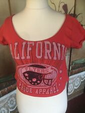 Ladies  Cropped Top New Look Size 8 California Flyers League Apparel Logo Summer