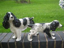 Springer Spaniel Melba ware 27cms and small spaniel both black and white