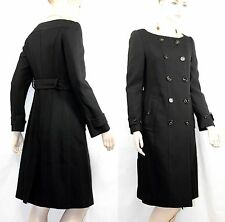 $2,995 Burberry Prorsum 4 6 38 Collarless Coat Trench Dress Women Lady GIFT A