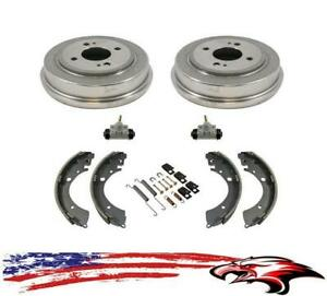 New Rear Drums Brake Shoes Wheel Cylinders & Hardware for Honda Civic 1996-2000