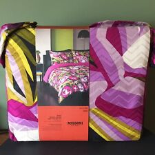 Missoni For Target King Duvet COVER & TWO Sham COVERS - Purple Passione Floral