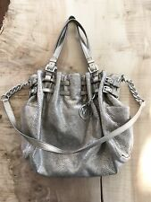 New, without tags. michael kors Edie metallic snakeskin handbag