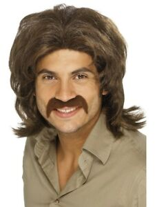70s Retro Fever Wig Mens Disco Dancing 1970s Wig Fancy Dress