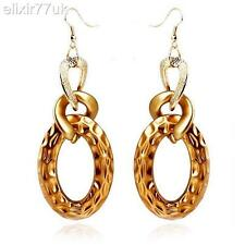 NEW PAIR LARGE GOLD CHUNKY CURB CHAIN DANGLE DROP CHANDELIER EARRINGS GREAT GIFT