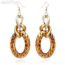 NUOVO paio di grandi dimensioni oro trama grossa cordolo catena pendenti goccia orecchini lampadario grande regalo